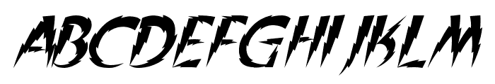 In A Flash Italic Font UPPERCASE