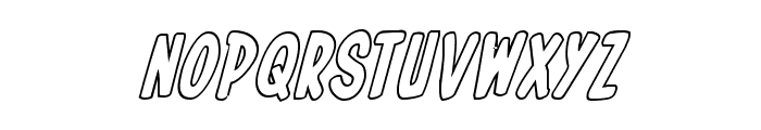 In-House Edition Outline Italic Font LOWERCASE