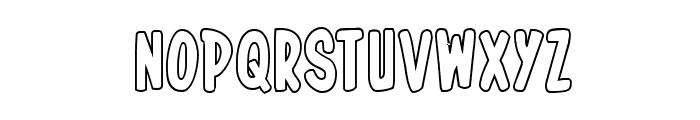In-House Edition Outline Font LOWERCASE