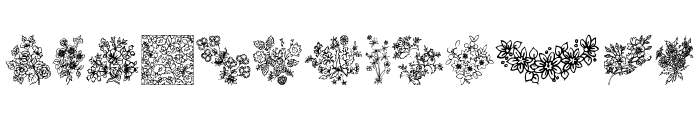 In your garden Font LOWERCASE