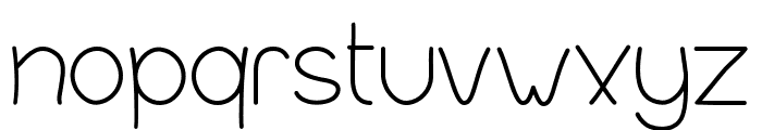 InFormal Style Thin Font LOWERCASE