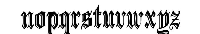 IncisedBlack Normal Font LOWERCASE