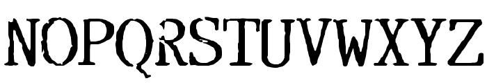 Incognitype Font UPPERCASE