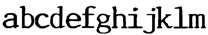 Incognitype Font LOWERCASE