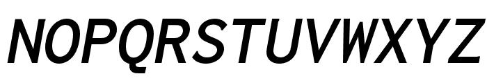 Inconsolata LGC Markup Bold Italic Font UPPERCASE