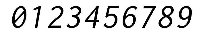 Inconsolata LGC Markup Italic Font OTHER CHARS