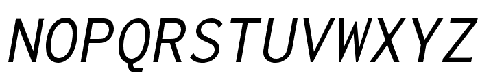 Inconsolata LGC Markup Italic Font UPPERCASE