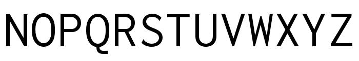 Inconsolata LGC Markup Font UPPERCASE