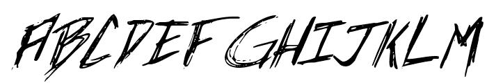 Incubus Italic Font UPPERCASE
