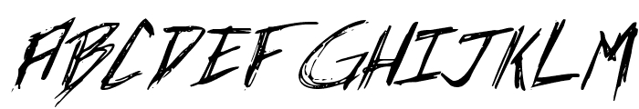 Incubus Italic Font LOWERCASE