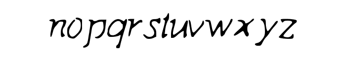 Indagate Font LOWERCASE