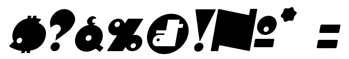 Independant Italic Font OTHER CHARS