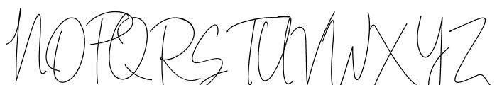 Indesign Signature Font UPPERCASE