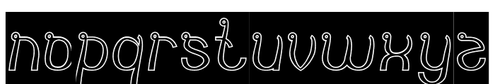 India Hair Style-Hollow-Inverse Font LOWERCASE