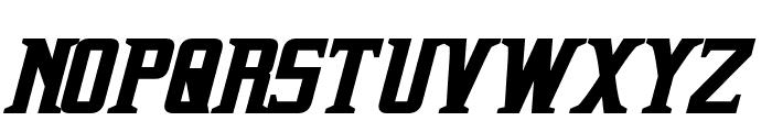 Indiana Bold Italic Font UPPERCASE