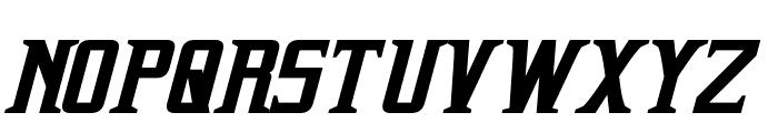 Indiana Italic Font UPPERCASE