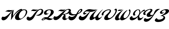 Indiana Script PERSONAL USE Font UPPERCASE