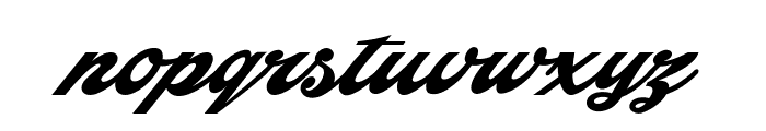 Indiana Script PERSONAL USE Font LOWERCASE