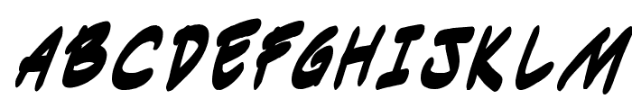 Indie Komiks Sketch BoldItalic Font UPPERCASE