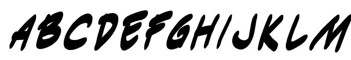 Indie Komiks Sketch BoldItalic Font LOWERCASE