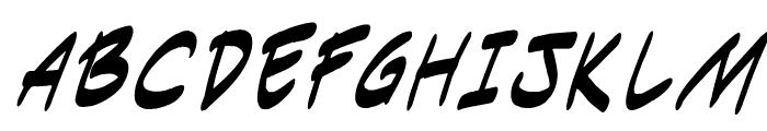 Indie Komiks Sketch Italic Font UPPERCASE