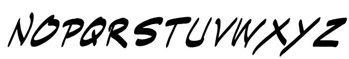 Indie Komiks Sketch Italic Font LOWERCASE
