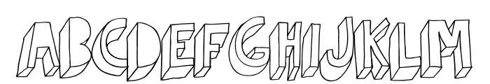 Indietronica-Regular Font UPPERCASE