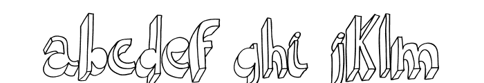 Indietronica-Regular Font LOWERCASE