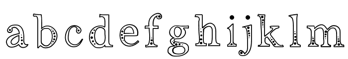 Indifference Font LOWERCASE