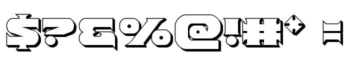 Indigo Demon 3D Font OTHER CHARS