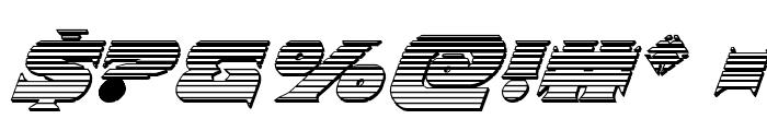 Indigo Demon Chrome Italic Font OTHER CHARS