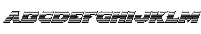 Indigo Demon Chrome Italic Font LOWERCASE