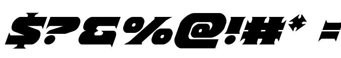 Indigo Demon Italic Font OTHER CHARS