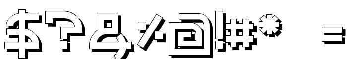 Individigital Shaded Font OTHER CHARS