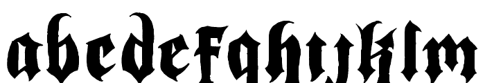 Indoctrine Font LOWERCASE