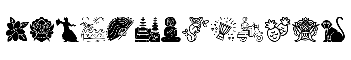 Indonesian Icons Font UPPERCASE