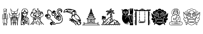 Indonesian Icons Font LOWERCASE
