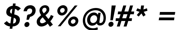 IndultaSemiSerif-Italic Font OTHER CHARS