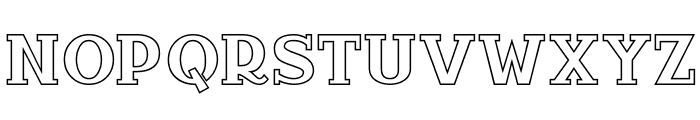 InfantylOut Font UPPERCASE