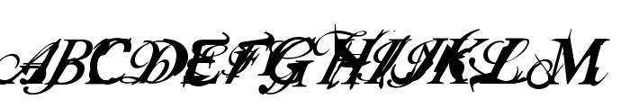 Infiltrace  Italic Font UPPERCASE