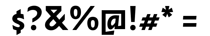 Infini Bold Font OTHER CHARS