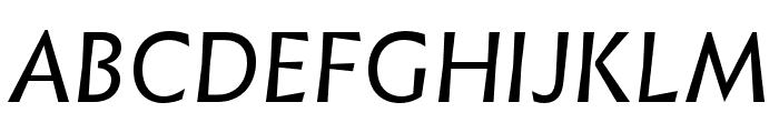 Infini Italic Font UPPERCASE