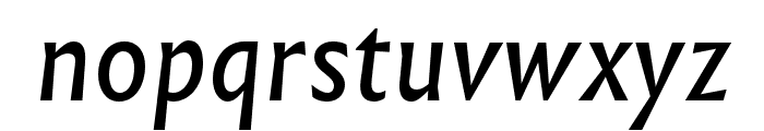 Infini Italic Font LOWERCASE
