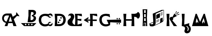 Infini Picto Regular Font UPPERCASE