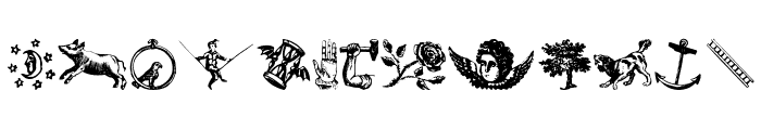 Infinite Dingbats Font UPPERCASE