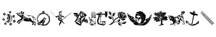 Infinite Dingbats Font LOWERCASE