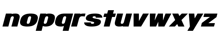Infinite Justice Font LOWERCASE