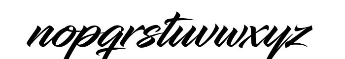 InfiniteStroke-Bolder Font LOWERCASE