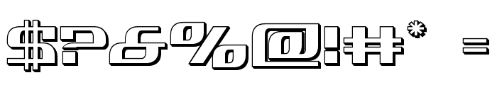 Infinity Formula 3D Font OTHER CHARS