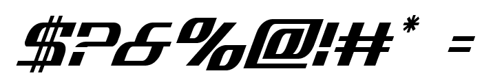 Infinity Formula Condensed Italic Font OTHER CHARS